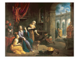 Jesus at the Home of Martha and Mary Giclee Print by Flemish School