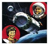 Andrian Nikolayev and Valentina Tereshkova, Giclee Print