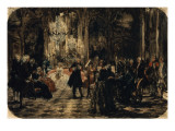 Sketch for the Flute Concert, 1852 Premium Giclee Print by Adolph von Menzel