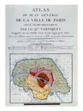 Atlas Du Plan General De La Ville De Paris, 1796 Premium Giclee Print by Edme Verniquet