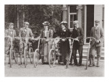 Group of Edwardian Bicyclists, Early 1900S Giclee Print by  English Photographer
