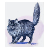 Persian Cat, from 'Treasure', 1966 Giclee Print by R. B. Davis