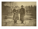 Leo Tolstoy and the Author Maxim Gorky Giclee Print by Sophia Andreevna Tolstaya