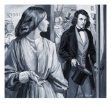 Elizabeth Siddal and Dante Gabriel Rossetti Giclee Print by Paul Rainer