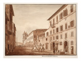 The House of Callimachus, Via Sistina, 1833 Giclee Print by Agostino Tofanelli