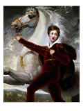 Portrait of a Boy in Red Velvet Suit Giclee Print by Thomas Stothard