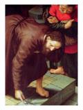 Christ and the Woman Taken in Adultery Giclee Print by Jan Sanders van Hemessen