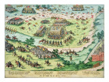 The Battle of Moncontour, 3rd October 1569 Giclee Print by Perrissin 