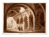 The Enclosure of the Wild Beasts for the Colosseum, 1833 Giclee Print by Agostino Tofanelli