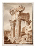 The Temple of Jupiter Tonans, Ruins, 1833 Giclee Print by Agostino Tofanelli