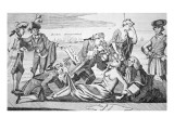 George Iii Forcing Tea Down the Throat of America Giclee Print by Paul Revere