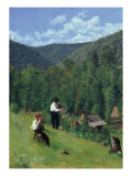 The Farmer and His Son at Harvesting, 1879 Giclee Print by Thomas Pollock Anshutz