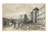 Burial-Ground at Millbank Prison Giclee Print by  English School