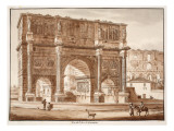 View of the Arch of Constantine, 1833 Giclee Print by Agostino Tofanelli
