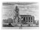The South Prospect of the Church of St. Clements Danes, London Giclee Print by Johannes Kip