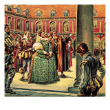 Queen Elizabeth I Visits the Royal Exchange. Giclee Print by C.l. Doughty