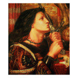 Joan of Arc Kissing the Sword of Deliverance, 1863 Reproduction procédé giclée par Dante Gabriel Rossetti