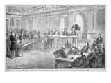 The Impeachment of President Johnson in 1868 Giclee Print by American School