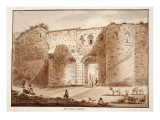 The Porta Salaria, or Sabine Gate, 1833 Giclee Print by Agostino Tofanelli