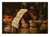 Still Life with a Book of Sheet Music Giclee Print by Francesco Fieravino