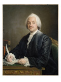Portrait of Denis Paul Le Pot De La Fontaine. 1772 Giclee Print by Francois Hubert Drouais