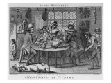Christmas in the Country, Engraved by Inigo Barlow, 1791 Giclee Print by Samuel Collings