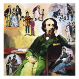 Charles Dickens with His Characters Giclee Print by Ralph Bruce