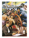 The American Writer, Jack London Giclee Print by Alberto Salinas