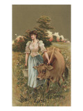 Advertisement for Swift&#39;s Jersey Butterine, C.1880 Giclee Print by American School 