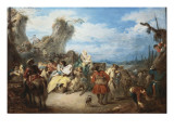 The March of the Troops, Called War Giclee Print by Jean-Baptiste Pater