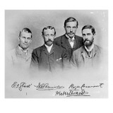 Roger Casement, Herbert Ward, E.J Glave and Friend Reproduction procédé giclée par English Photographer