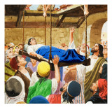 The Miracles of Jesus: Healing the Lame Man Giclee Print by Clive Uptton