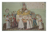The Feast of Agriculture in 1796 at Paris Giclee Print by Pierre Antoine Lesueur