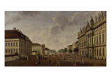View of the Armory and Unter Den Linden Street, 1786 Giclee Print by Carl Traugott Fechhelm