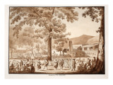 Testaccio: the October Festival, 1833 Giclee Print by Agostino Tofanelli