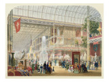 Great Exhibition, 1851: Central Transept of the Crystal Palace Giclee Print by  English School