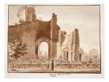 Ruin of the Temple of Venus and Cupid, 1833 Giclee Print by Agostino Tofanelli