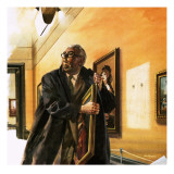 Taxi Driver Stealing Goya's Portrait of Wellington Giclee Print by Andrew Howat