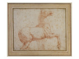 Study of One of the Quirinal Marble Horses Reproduction procédé giclée par  Raphael