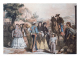 Traditional Mexican Mid-Nineteenth Century Costumes Gicledruk van Austrian School