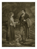 Betrothal of Robert Burns and Highland Mary, 1785 Giclee Print by James Archer