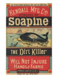 Poster Advertising Kendall Mfg. Co's 'soapine', C.1890 Giclée-Druck von American School