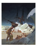 Nansen -- Conqueror of the Arctic Ice Giclee Print by  English School
