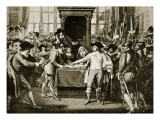 Cromwell Dissolving the Long Parliament, 1653 Giclee Print by  English School