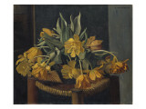Double Yellow Tulips on a Wicker Chair, 1923 Giclee Print by Félix Vallotton