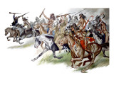 Native American Indians on Horseback Giclee Print by Ron Embleton