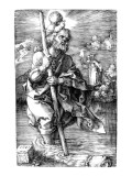 St. Christopher Facing Right, 1521 Giclee Print by Albrecht Dürer