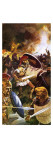 Leonidas and His Troops Fighting to the End Giclee Print by  English School