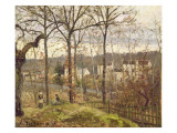 Winter Landscape at Louveciennes, C.1870 Giclee Print by Camille Pissarro