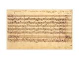 The Brandenburg Concertos, No.5 D-Dur, 1721 Giclee Print by Johann Sebastian Bach